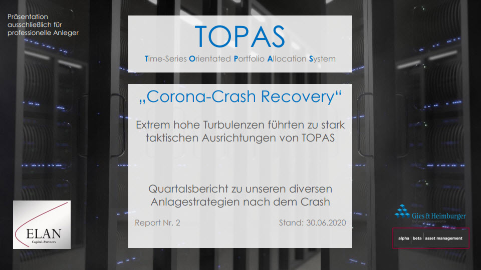 "TOPAS Report Nr. 2: ""Corona-Crash Recovery"""