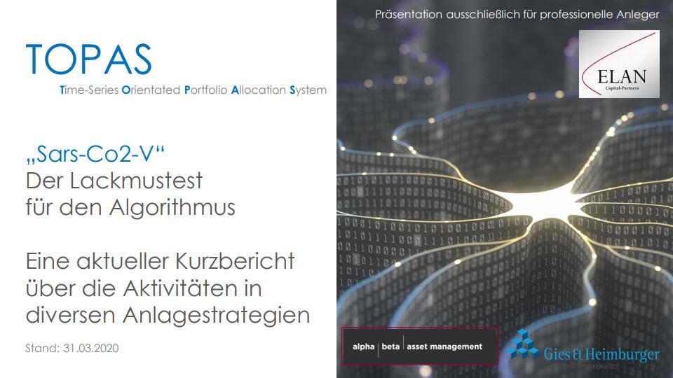 """TOPAS Report Nr. 1: """"Sars-CoV-2"""" Der Lackmustest für den Algorithmus"""