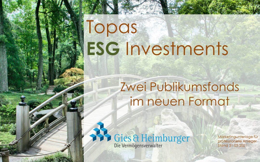 TOPAS ESG Investments- Profilgesteuerte Dachfondsstrategie