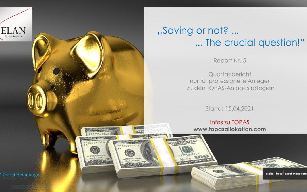 "TOPAS Report Nr. 5: ""Saving or not?"""